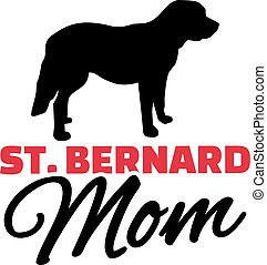 St. Bernard Mom with dog silhouette