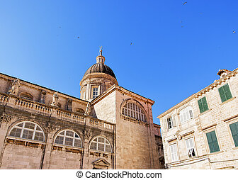 St Blaise church dome in Dubrovnik