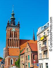 St. Catherine Church in Gdansk, Poland