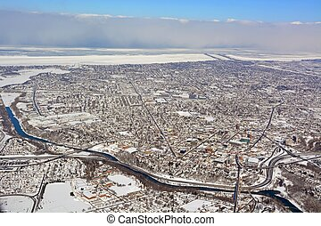 St Catherines Winter aerial
