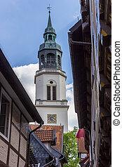 st. 。, celle, marien, タワー, 教会