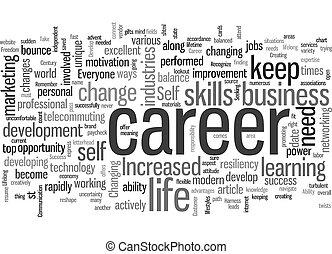 st Century Career Success text background wordcloud concept