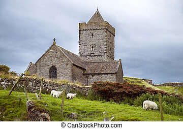 St Clements Church, Rodel, Isle of Harris, Western Isles, ...