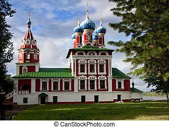 st., dmitry, sangue, igreja