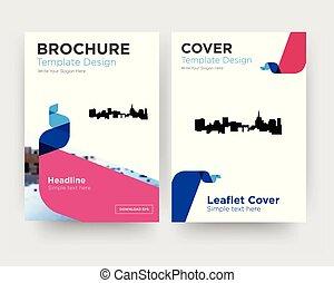 st, flieger, design, schablone, broschüre, paul