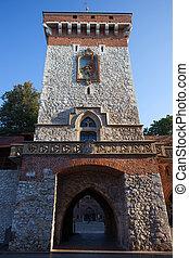 St Florian Gate in Krakow - St. Florian Gate in Krakow, ...