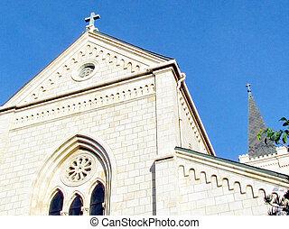 st. 。, franciscan, 教会, jaffa, アンソニー, 切妻, 2011