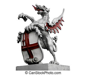St George and the dragon - St George with the dragon, symbol...