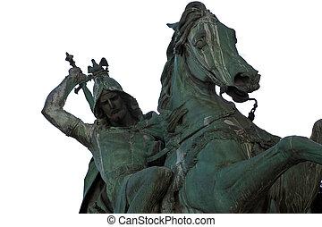 St George Killing the Dragon, sculpture, Zagreb