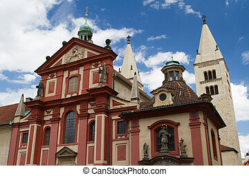 St. George's Basilica (Basilika sv. Jiri) at Prague Castle, Czech Republic