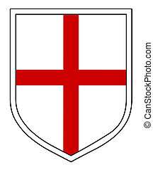 St George\\\'s Shield - A black Shield with the St George...