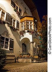St. Gilgen townhall at night