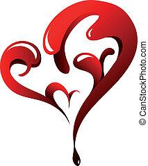 st., giorno, fidanzato, cuore-forma