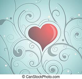 st., giorno fidanzato, cuore-forma