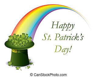 st. giorno patrick, cappello verde