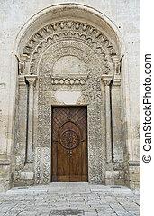 St. Giovanni Battista portal church. Matera. Basilicata.