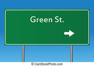 st., grønne, tegn