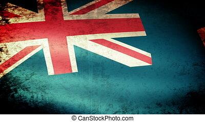 St Helena Dependencies Flag Waving