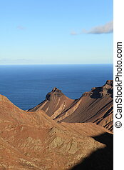 St Helena volcanic landscape - View across the volcanic ...