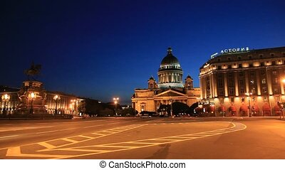 St. Isaac\'s Cathedral at night