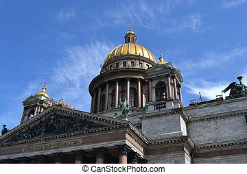 St. Isaac's Cathedral, - View of the St. Isaac's Cathedral,...