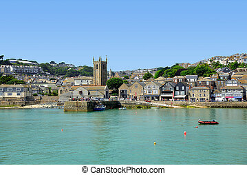 St Ives - Cornwall England - St Ives harbour Cornwall...