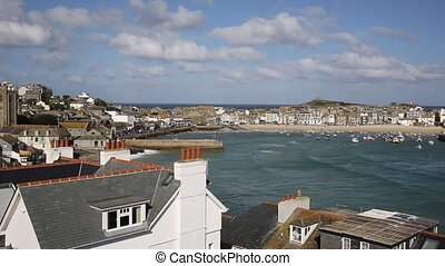 St Ives Cornwall England uk - St Ives Cornwall England with...