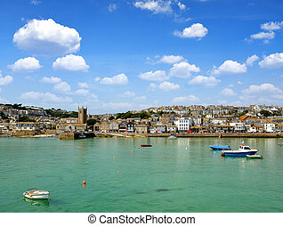 St Ives harbour Cornwall England UK