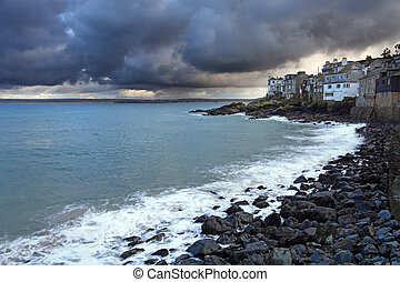 st ives harbor in south west cornwall england UK