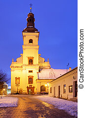St. Jacob church at night, Trnava