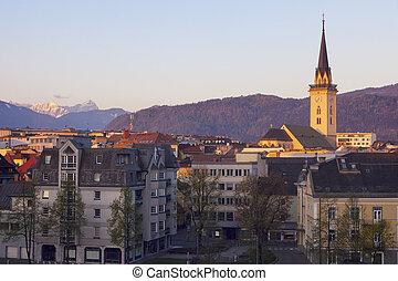 St. Jakob Church in Villach. Villach, Carinthia, Austria.