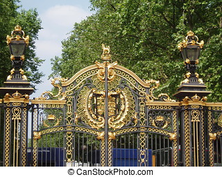 St James Park Gate - Golden Gate at St James Park, London.