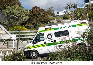 St. John Ambulance - CABLE BAY, NZ - NOV 20: St. John...