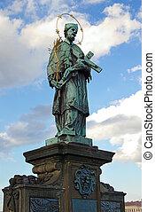 St. John of Nepomuk, Charles bridge, Prague, Czech republic