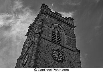 St John Thornham Church in Castleton Rochdale on a cold winters day just before it starts raining