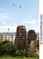 st Johns Basilica - The ruins of the Aquaduct coming from...