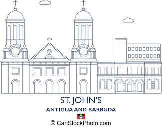 St. Johns City Skyline, Antigua and Barbuda - St. Johns...