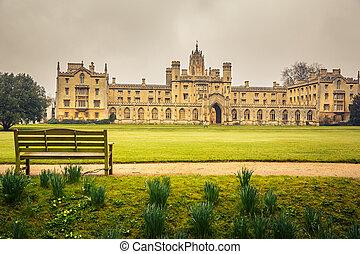 St John's College in Cambridge University