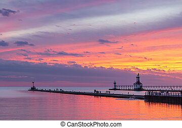 St. Joseph Afterglow - The setting sun paints the sky above...