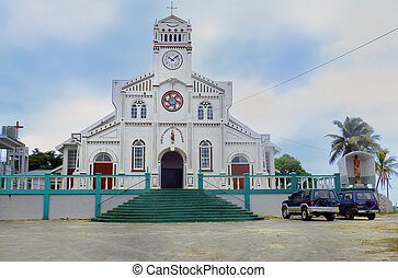 St Joseph Cathedral in Neiafu, Vavau, Tonga, South Pacific