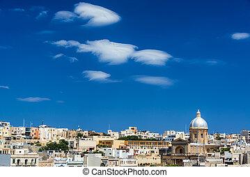 St. Joseph Church in Kalkara, Malta - Cityscape view of...