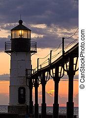 St. Joseph Light House - The lighthouse in St. Joseph on the...