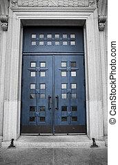 St-Joseph Oratory, blue door - St-Joseph Oratory, blue door...