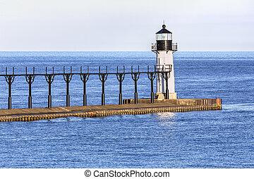 St. Joseph Outer Lighthouse - The St. Joseph North Pier...