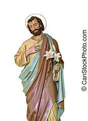 St Joseph statue isolated