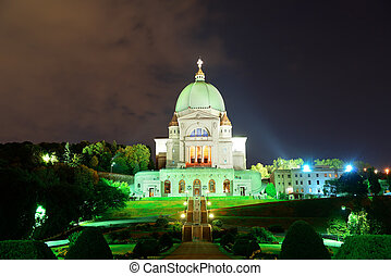 St. Joseph's Oratory at night in Montreal in Canada