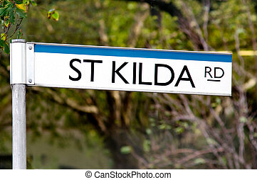 St Kilda Road Street Sign - Melbourne - St Kilda Road street...