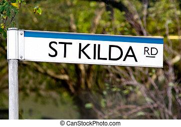 St Kilda Road Street Sign - Melbourne - St Kilda Road street...