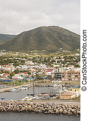 St Kitts Harbor Houses and Hill