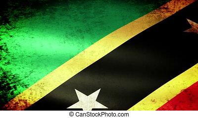 St Kitts Nevis Flag Waving